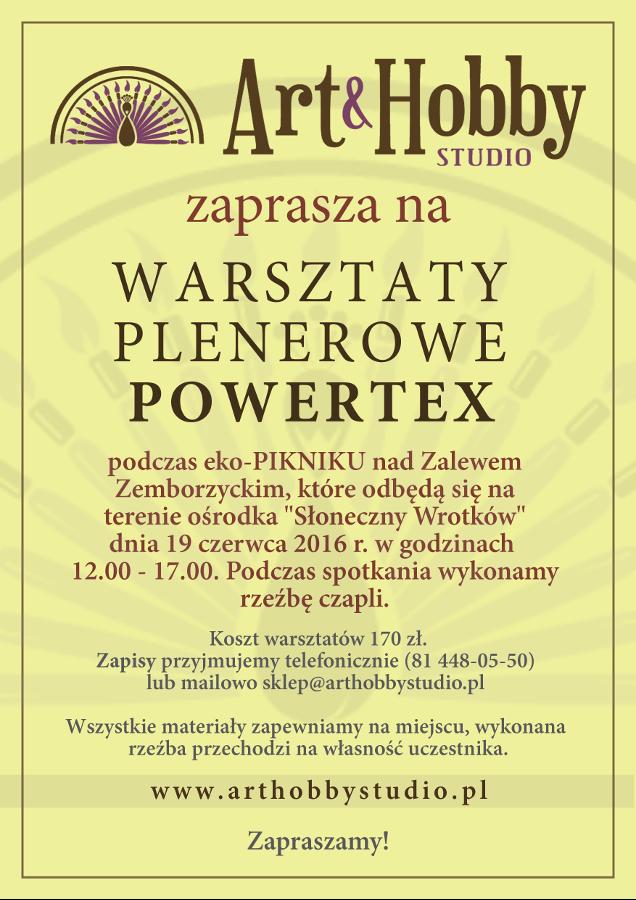 Zapisy na warsztaty Powertex, sklep Art&Hobby Studio Lublin