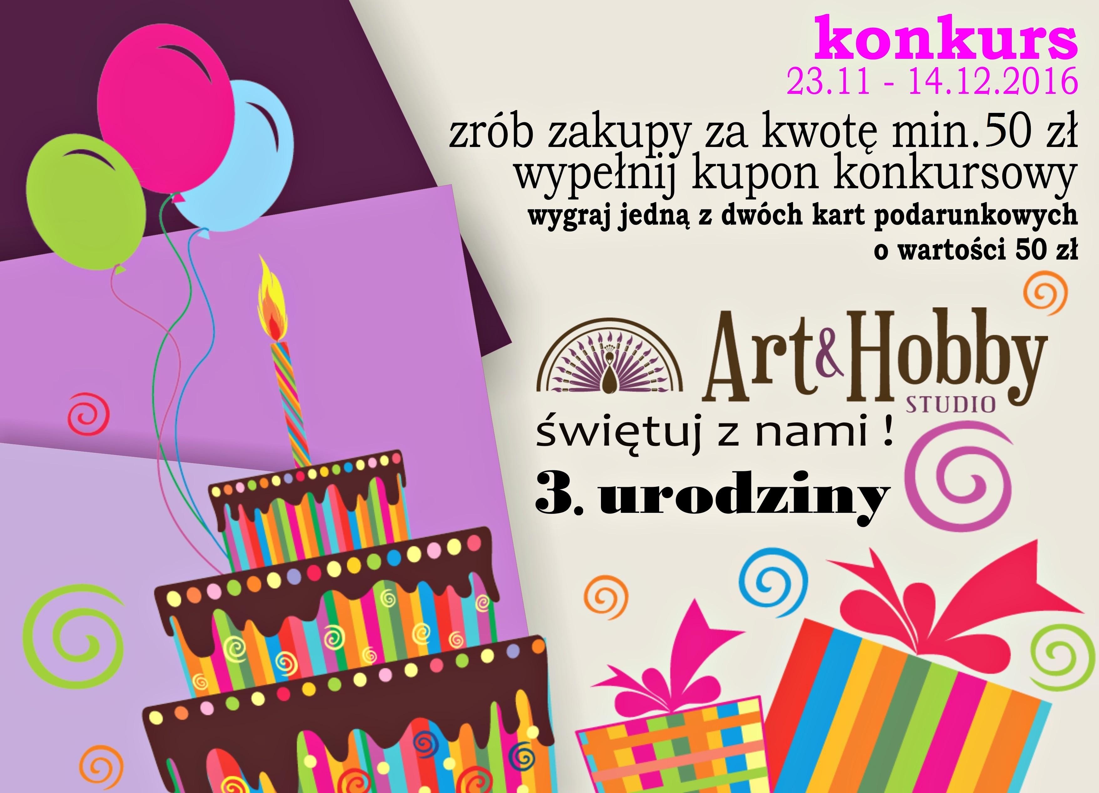 sklep arthobbystudio konkurs urodziny