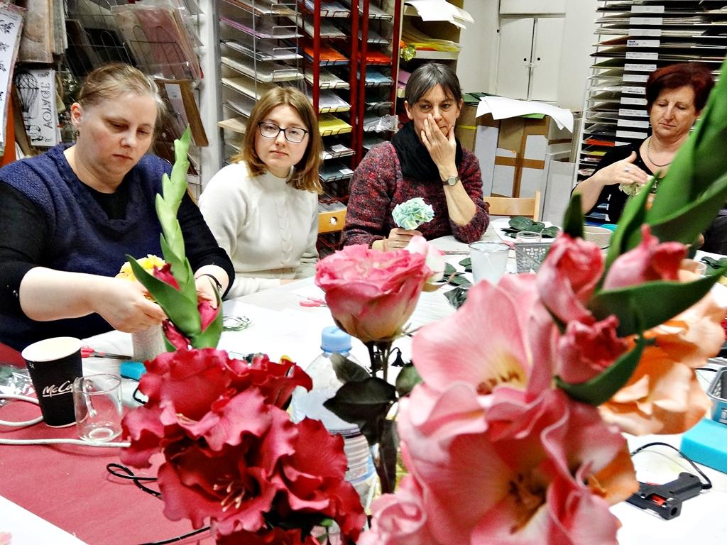 arthobbystudio lublin0005warsztaty foamiran lina hortensja