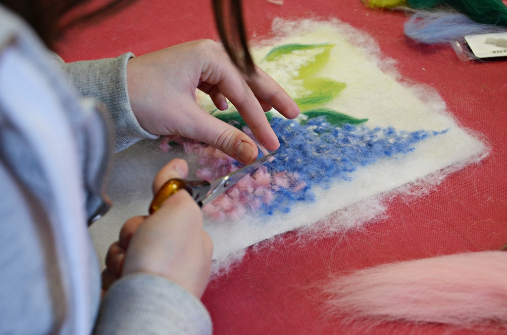 arthobbystudio lublin0002warsztaty kwiaty welna malowane