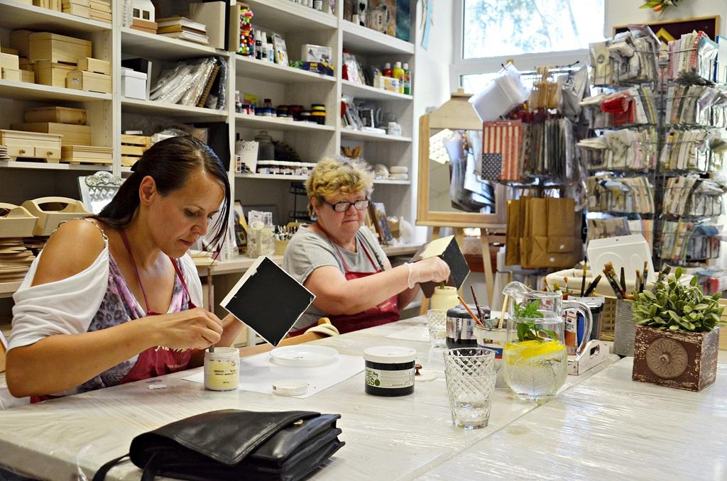 art hobby studioDSC 0203warsztaty shabby chic pudelko ornament sztukateria retro vintage stara szufladka zofia szewczyk