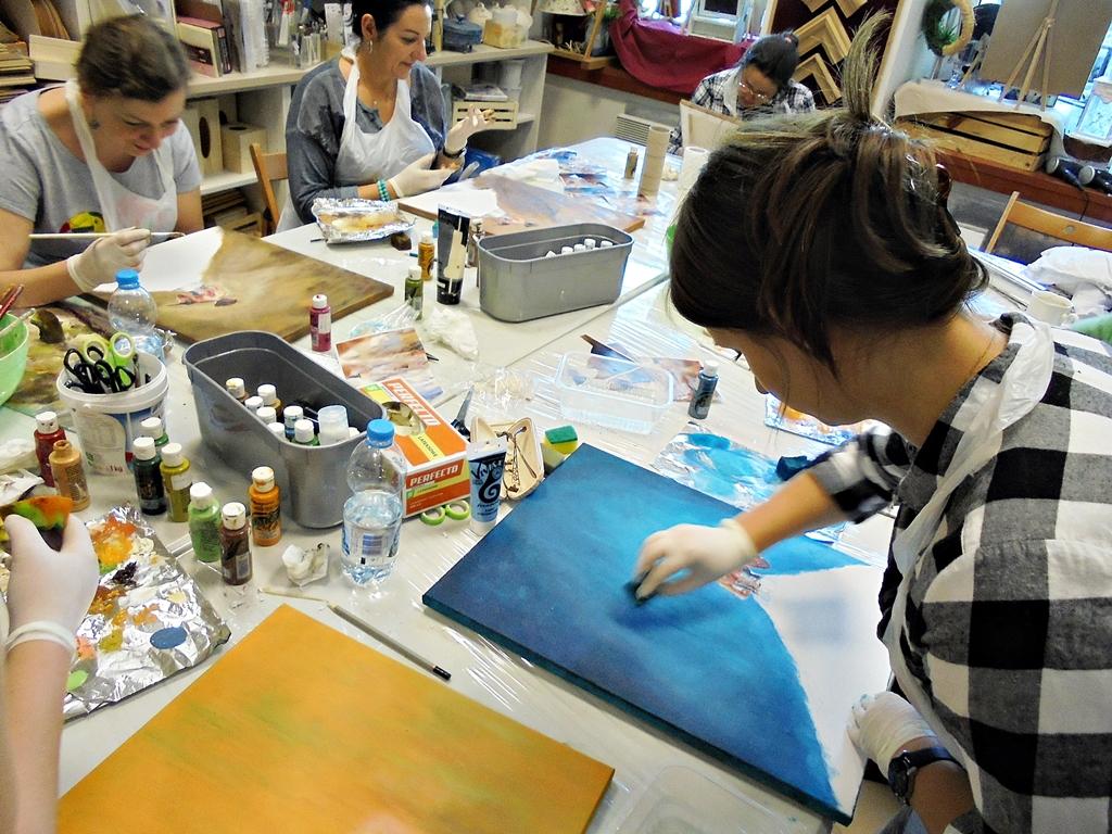 arthobbystudio lublin0004warsztaty obraz dama w sukni powertex