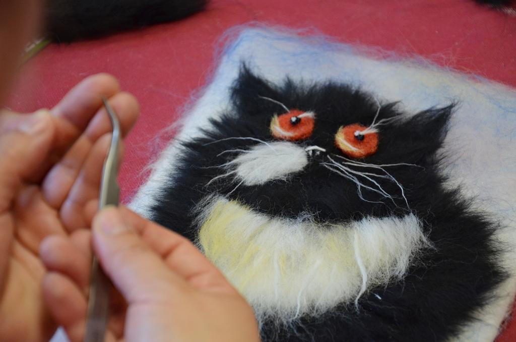 arthobbystudio lublin0007warsztaty obraz welna malowany kot