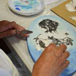 arthobbystudio lublin0008warsztaty obraz na dzien matki mixmedia pasta fiber podobrazie owalne 150x150