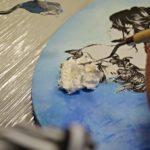 arthobbystudio lublin0009warsztaty obraz na dzien matki mixmedia pasta fiber podobrazie owalne 150x150