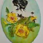 arthobbystudio lublin0010warsztaty obraz na dzien matki mixmedia pasta fiber podobrazie owalne 150x150