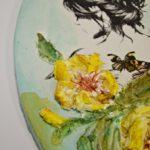 arthobbystudio lublin0012warsztaty obraz na dzien matki mixmedia pasta fiber podobrazie owalne 150x150