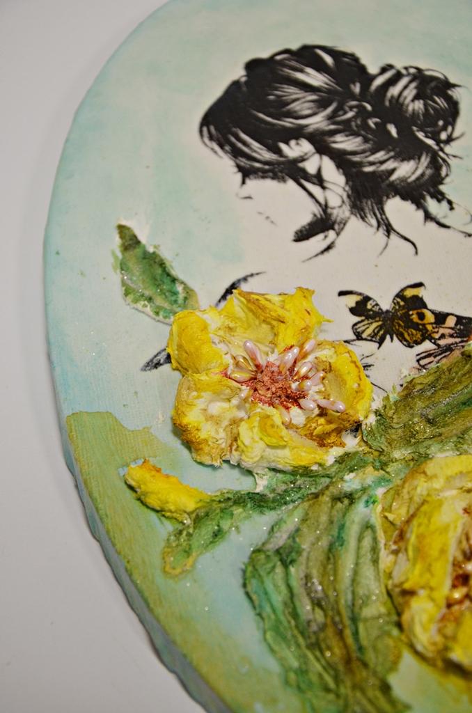 arthobbystudio lublin0012warsztaty obraz na dzien matki mixmedia pasta fiber podobrazie owalne