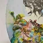 arthobbystudio lublin0014warsztaty obraz na dzien matki mixmedia pasta fiber podobrazie owalne 150x150