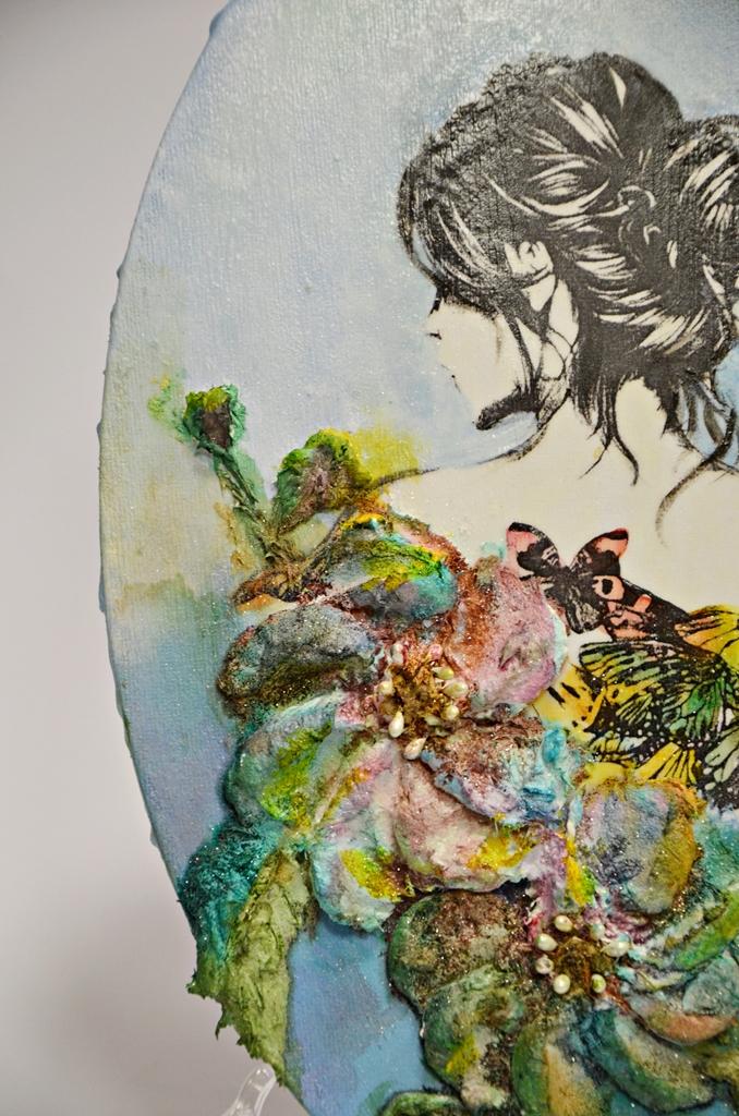 arthobbystudio lublin0014warsztaty obraz na dzien matki mixmedia pasta fiber podobrazie owalne