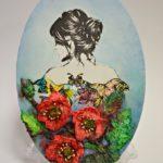 arthobbystudio lublin0017warsztaty obraz na dzien matki mixmedia pasta fiber podobrazie owalne 150x150