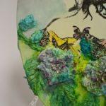 arthobbystudio lublin0020warsztaty obraz na dzien matki mixmedia pasta fiber podobrazie owalne 150x150