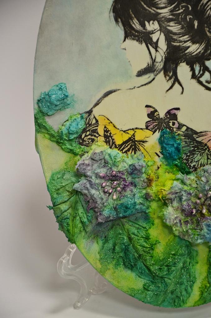 arthobbystudio lublin0020warsztaty obraz na dzien matki mixmedia pasta fiber podobrazie owalne