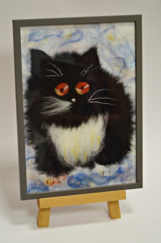 arthobbystudio lublin0020warsztaty obraz welna malowany kot