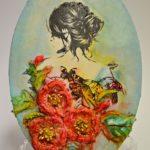 arthobbystudio lublin0021warsztaty obraz na dzien matki mixmedia pasta fiber podobrazie owalne 150x150