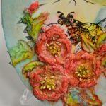 arthobbystudio lublin0022warsztaty obraz na dzien matki mixmedia pasta fiber podobrazie owalne 150x150