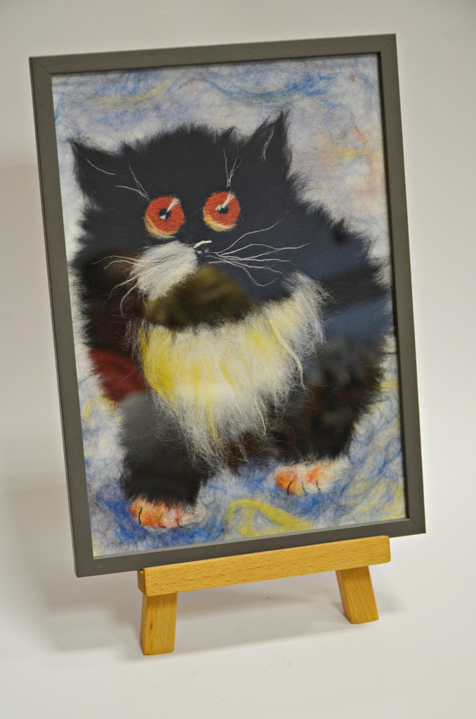 arthobbystudio lublin0022warsztaty obraz welna malowany kot