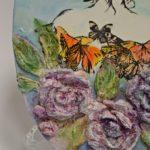arthobbystudio lublin0025warsztaty obraz na dzien matki mixmedia pasta fiber podobrazie owalne 150x150