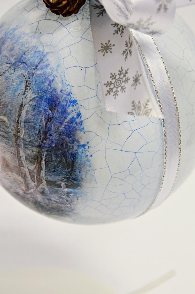 arthobbystudio lublin0010warsztaty swieta ozdoby dekoracje decoupage mixmedia bombka spekania crackle