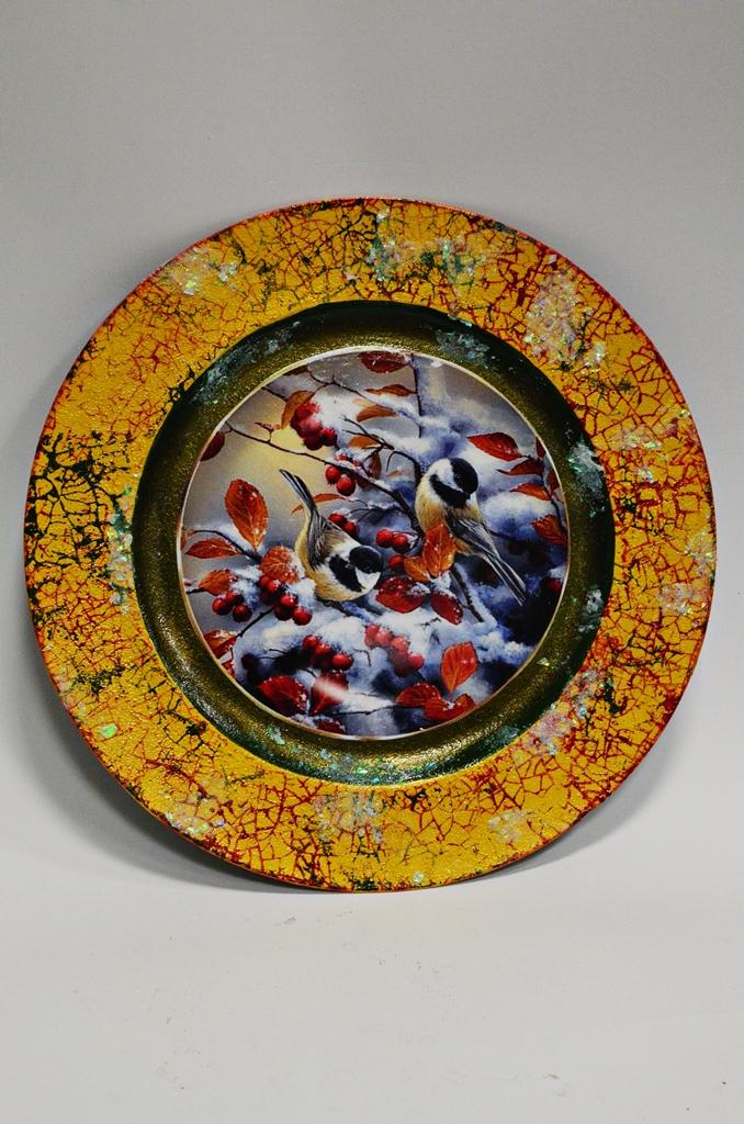 arthobbystudio lublin0010warsztaty swieta ozdoby dekoracje decoupage mixmedia cracle spekania patera zimowa