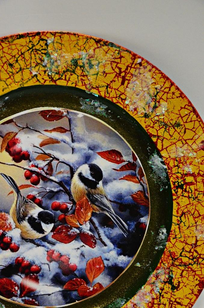 arthobbystudio lublin0011warsztaty swieta ozdoby dekoracje decoupage mixmedia cracle spekania patera zimowa