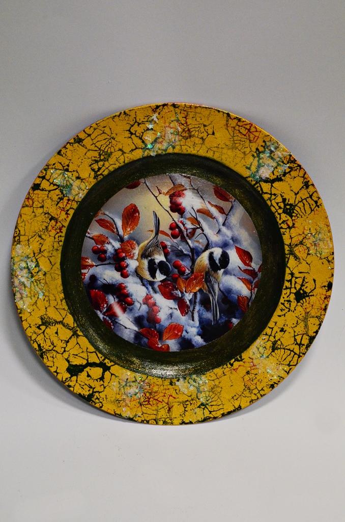 arthobbystudio lublin0012warsztaty swieta ozdoby dekoracje decoupage mixmedia cracle spekania patera zimowa