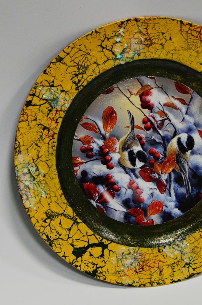 arthobbystudio lublin0013warsztaty swieta ozdoby dekoracje decoupage mixmedia cracle spekania patera zimowa