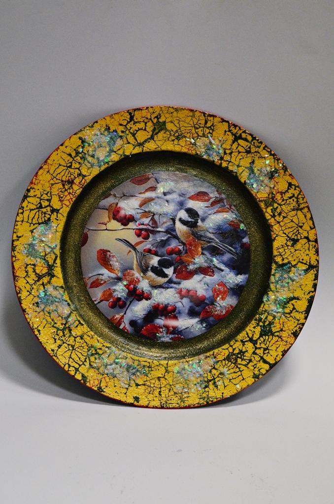 arthobbystudio lublin0015warsztaty swieta ozdoby dekoracje decoupage mixmedia cracle spekania patera zimowa