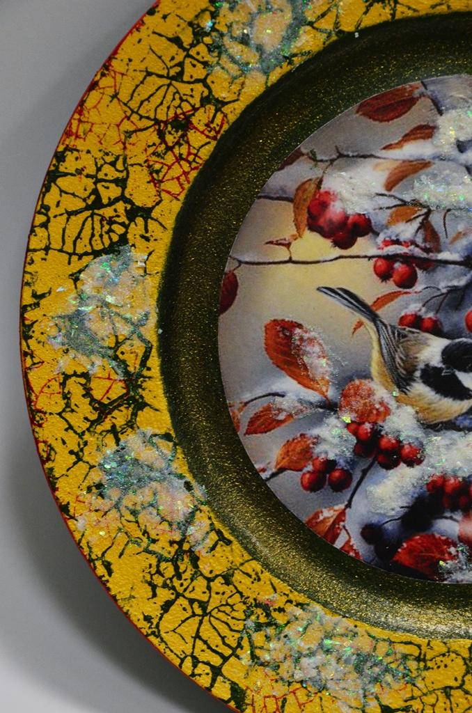 arthobbystudio lublin0017warsztaty swieta ozdoby dekoracje decoupage mixmedia cracle spekania patera zimowa
