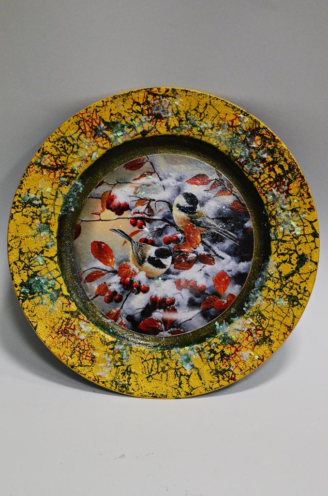 arthobbystudio lublin0018warsztaty swieta ozdoby dekoracje decoupage mixmedia cracle spekania patera zimowa