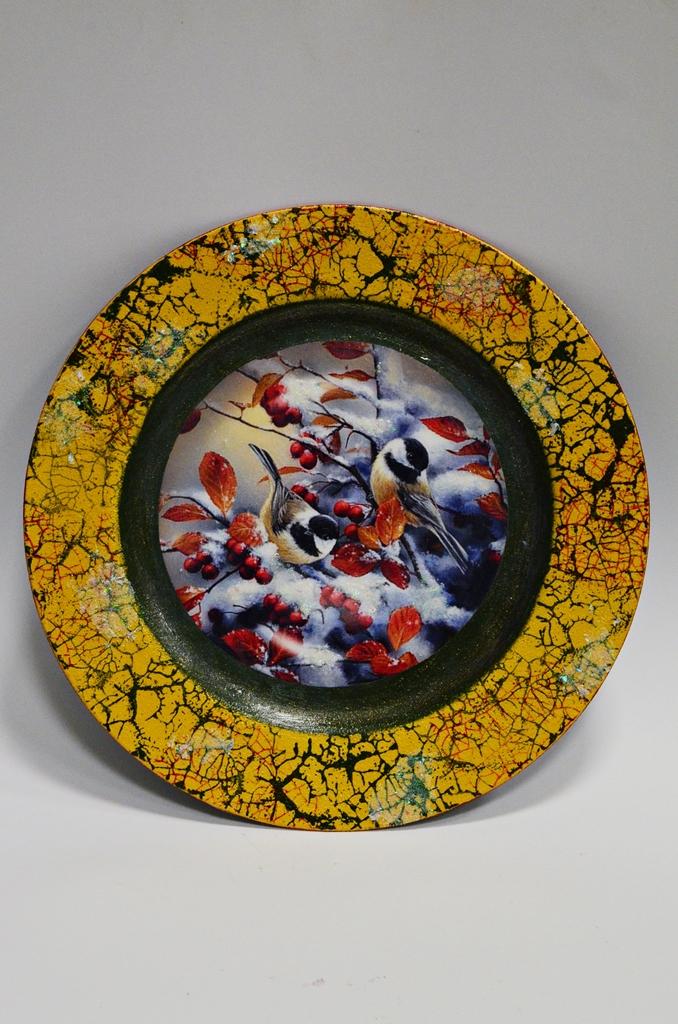 arthobbystudio lublin0019warsztaty swieta ozdoby dekoracje decoupage mixmedia cracle spekania patera zimowa