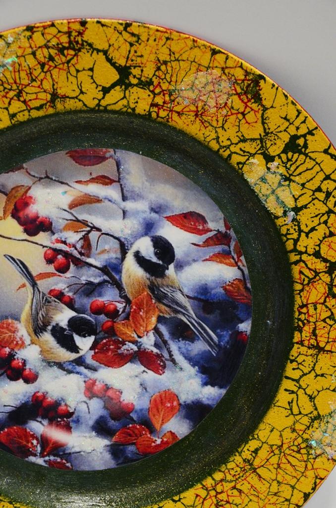 arthobbystudio lublin0020warsztaty swieta ozdoby dekoracje decoupage mixmedia cracle spekania patera zimowa