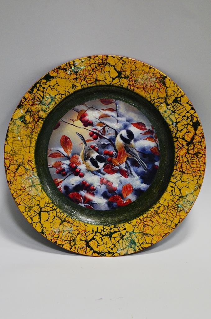 arthobbystudio lublin0021warsztaty swieta ozdoby dekoracje decoupage mixmedia cracle spekania patera zimowa
