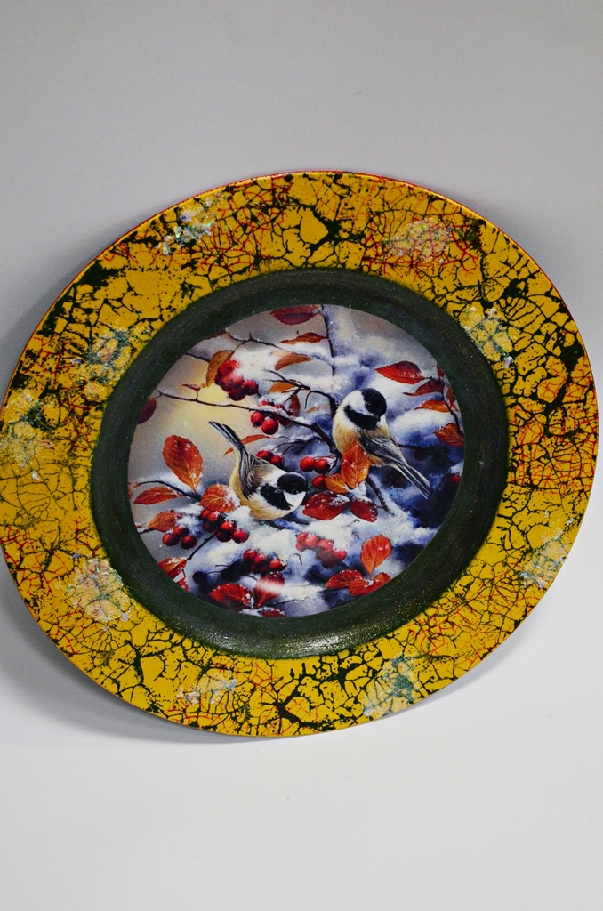 arthobbystudio lublin0022warsztaty swieta ozdoby dekoracje decoupage mixmedia cracle spekania patera zimowa