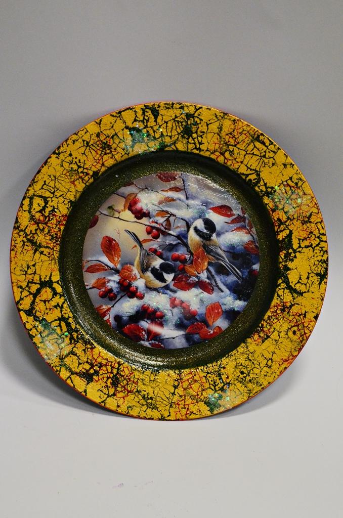 arthobbystudio lublin0025warsztaty swieta ozdoby dekoracje decoupage mixmedia cracle spekania patera zimowa