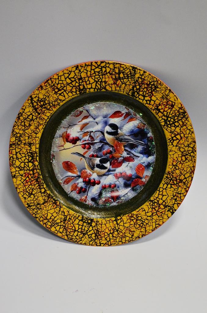 arthobbystudio lublin0027warsztaty swieta ozdoby dekoracje decoupage mixmedia cracle spekania patera zimowa