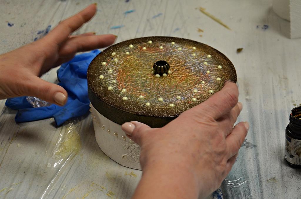 arthobbystudio lublin0003warsztaty mandala pudełko mixmedia decoupage