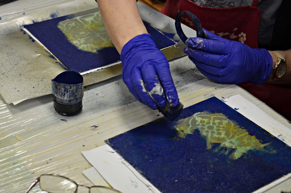 arthobbystudio lublin0003warsztaty taca mixmedia decoupage taca marokanska mozaika 1