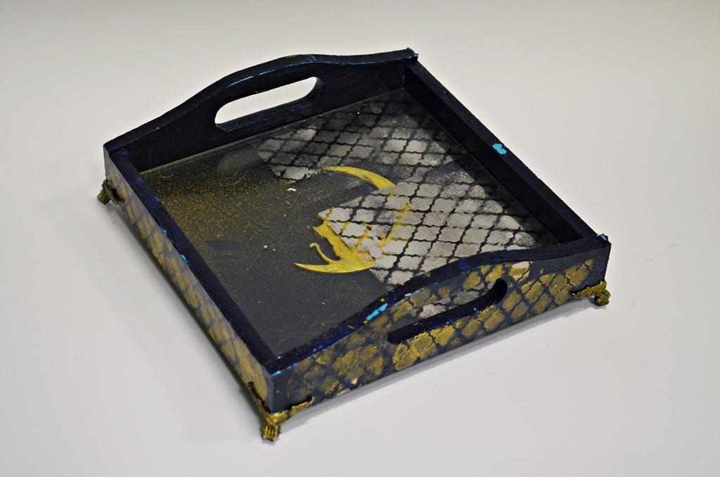 arthobbystudio lublin0004warsztaty taca mixmedia decoupage taca marokanska mozaika 1