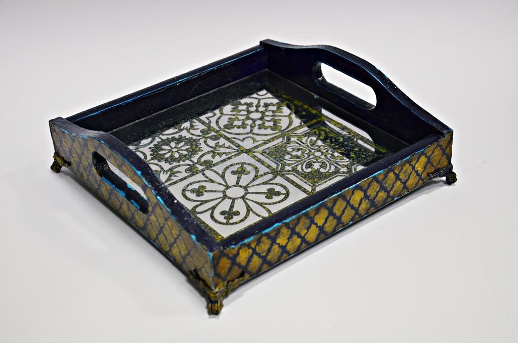 arthobbystudio lublin0005warsztaty taca mixmedia decoupage taca marokanska mozaika 1