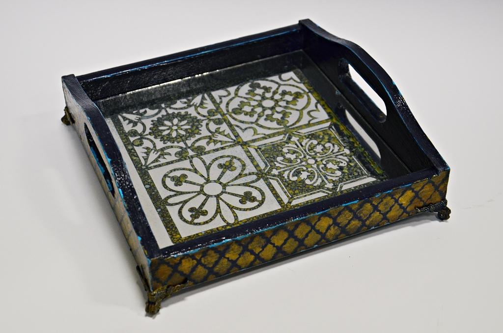 arthobbystudio lublin0006warsztaty taca mixmedia decoupage taca marokanska mozaika 1