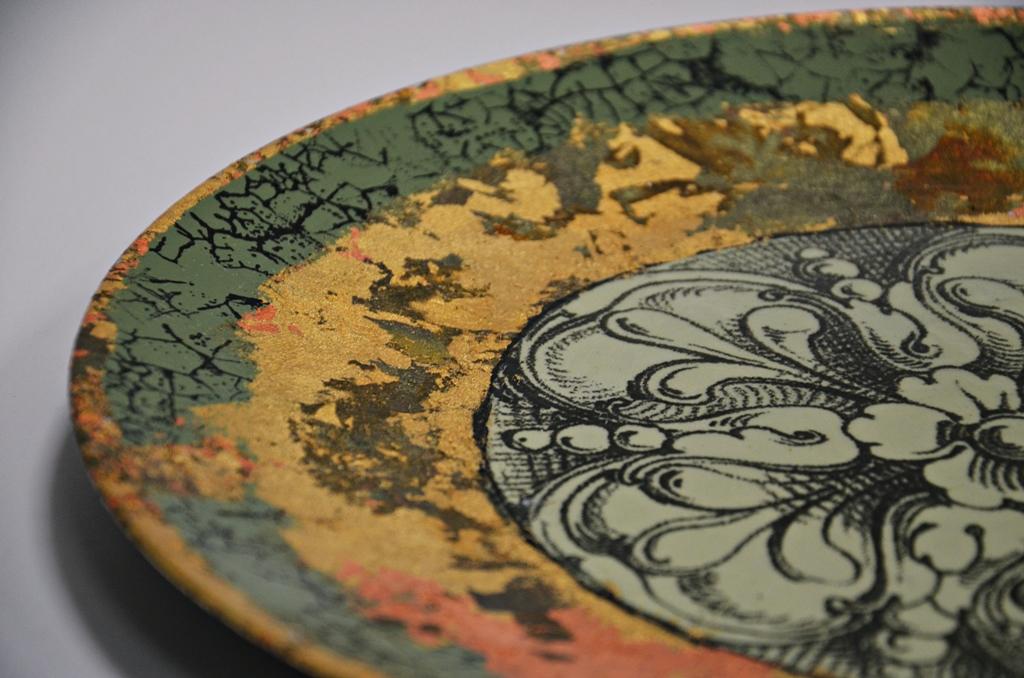 arthobbystudio lublin0007warsztaty patera barokowa mixmedia decoupage transfer zlocenia patynowanie spekania zofia szewczyk