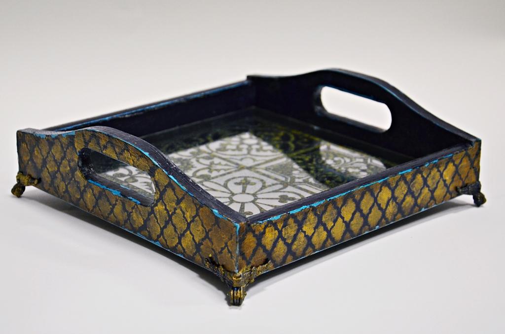 arthobbystudio lublin0007warsztaty taca mixmedia decoupage taca marokanska mozaika 1