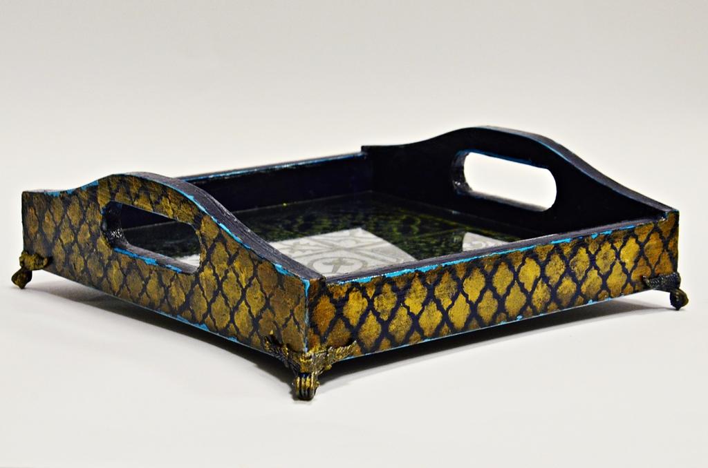 arthobbystudio lublin0008warsztaty taca mixmedia decoupage taca marokanska mozaika 1