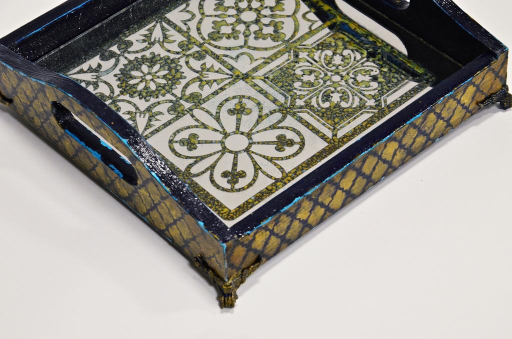 arthobbystudio lublin0009warsztaty taca mixmedia decoupage taca marokanska mozaika 1