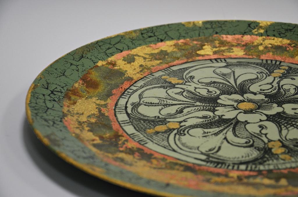 arthobbystudio lublin0012warsztaty patera barokowa mixmedia decoupage transfer zlocenia patynowanie spekania zofia szewczyk