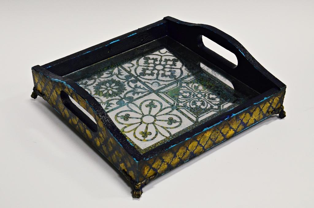 arthobbystudio lublin0013warsztaty taca mixmedia decoupage taca marokanska mozaika 1