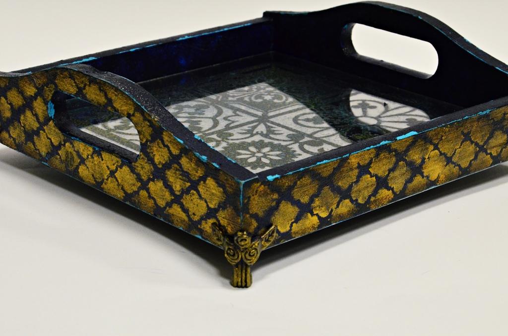 arthobbystudio lublin0015warsztaty taca mixmedia decoupage taca marokanska mozaika 1