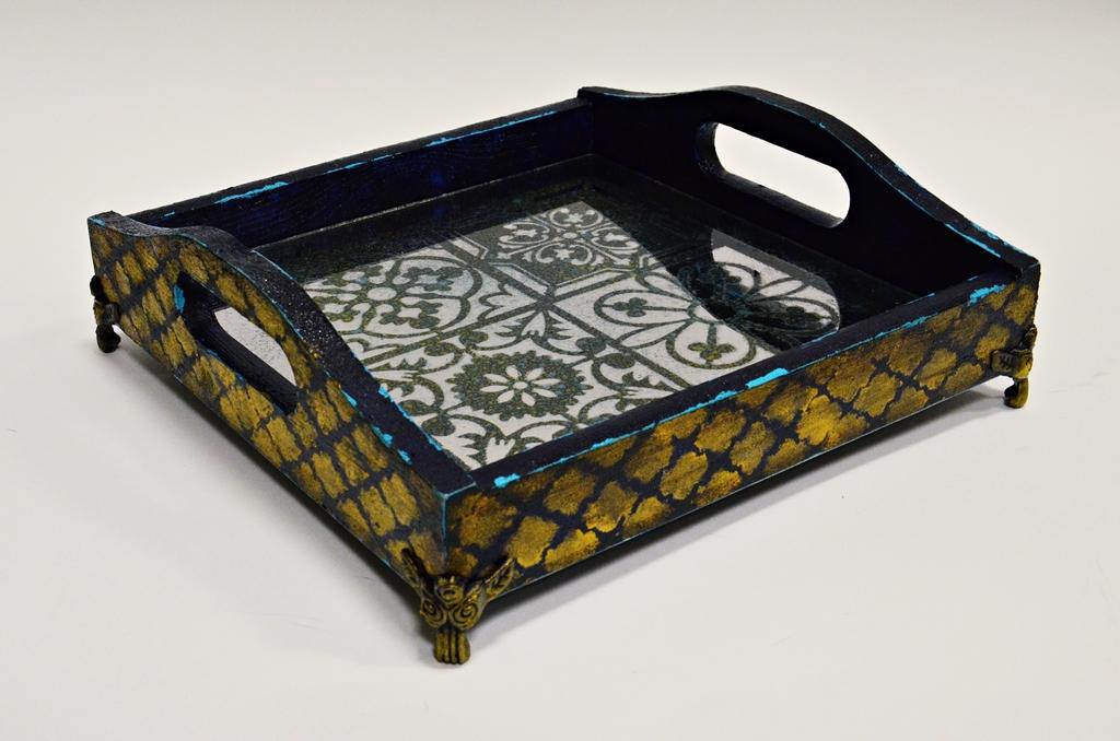 arthobbystudio lublin0016warsztaty taca mixmedia decoupage taca marokanska mozaika 1