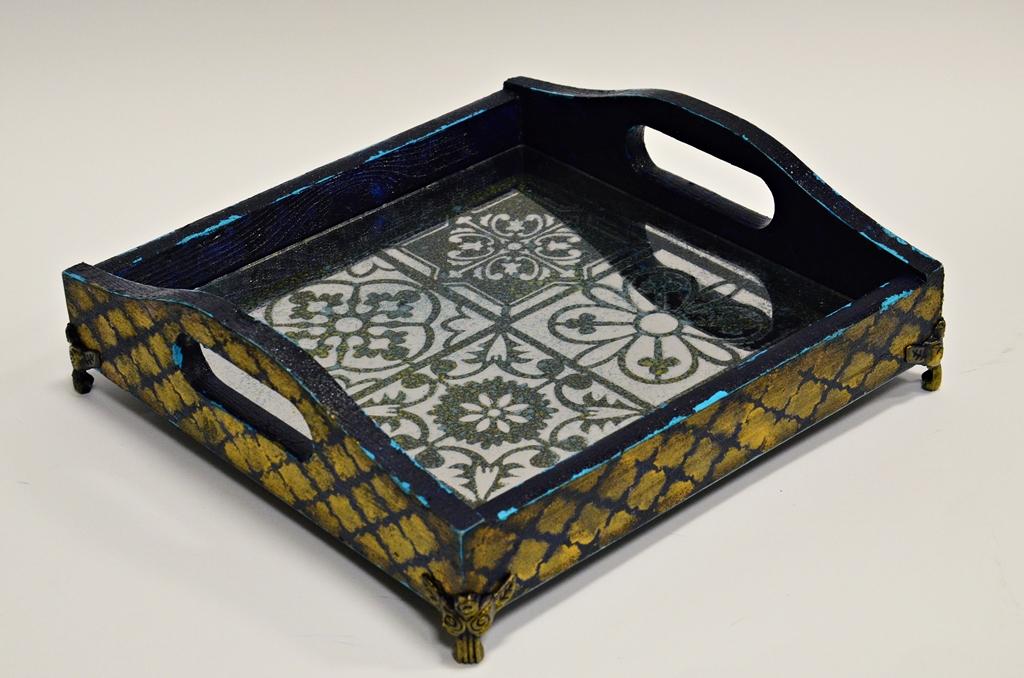 arthobbystudio lublin0017warsztaty taca mixmedia decoupage taca marokanska mozaika 1